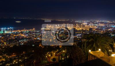 Haifa view at sunset