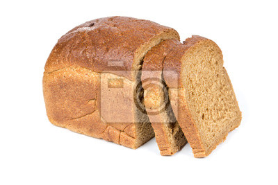 Half a loaf of rye bread