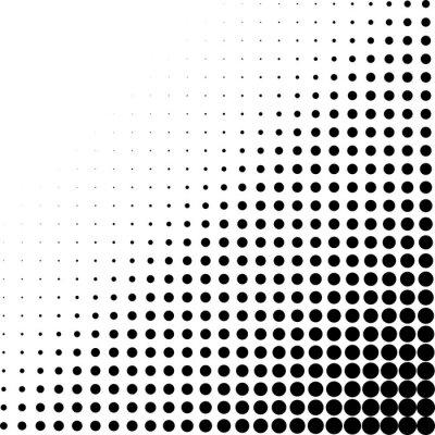 Wall mural Halftone dots corner