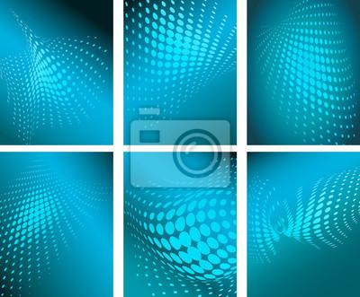 halftone pattern background vector illustration