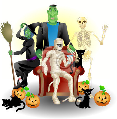 Wall mural Halloween Party