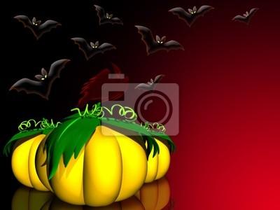 Halloween Sfondo-Halloween Background-Arrière Plan Halloween-3D