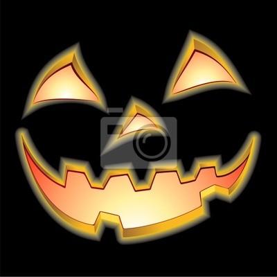 Halloween Zucca Nera-Halloween Black Pumpkin-Vector