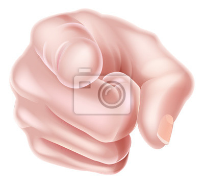 Hand Pointing Finger at You