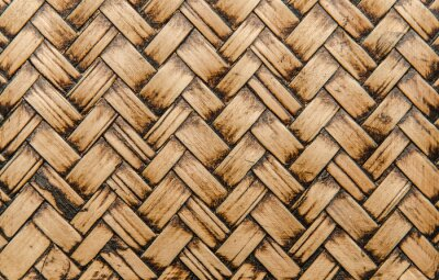 Wall mural handcraft bamboo weave texture for background