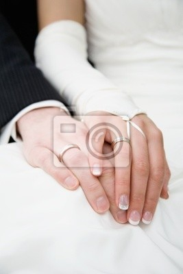 Hands - newly married couples