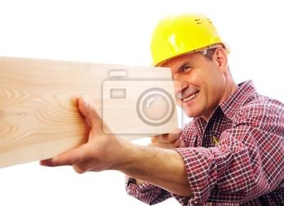 handsome skilful woodworker