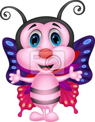 Happy butterfly cartoon