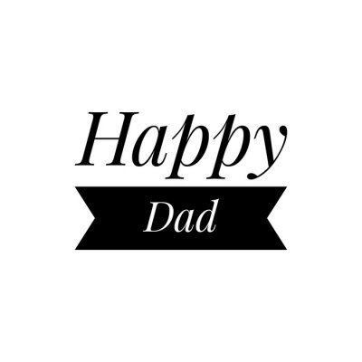 Wall mural ''Happy dad'' Lettering