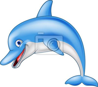 Happy dolphin cartoon