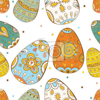 Happy Easter. Vector seamless pattern