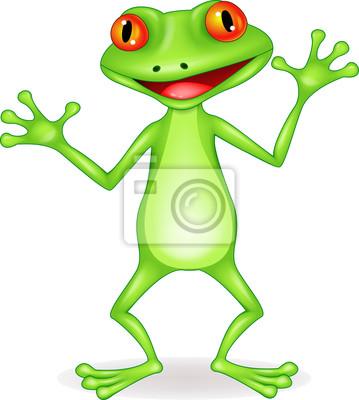 Wall mural Happy frog cartoon