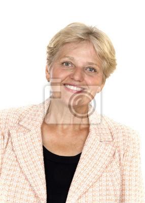 happy older pensioner woman portrait
