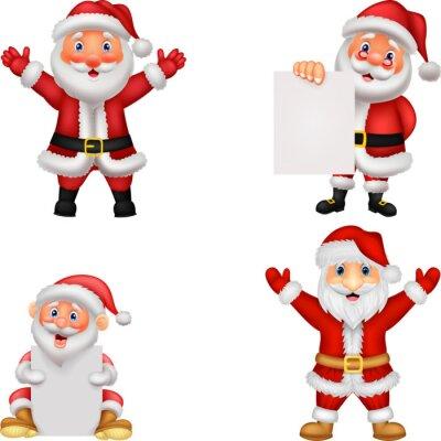 Happy Santa Clause cartoon with sign