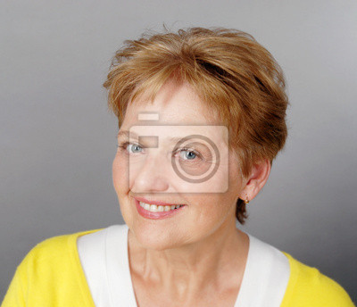 happy smilling  older pensioner woman portrait