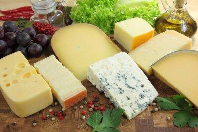 Wall mural Hard cheeses.