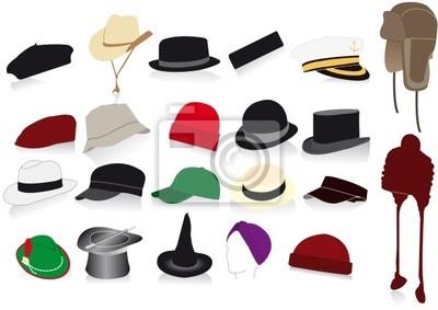 Wall mural hats