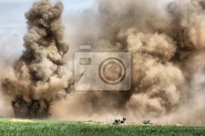 Wall mural HDR.Explosion. WW2 reenacting