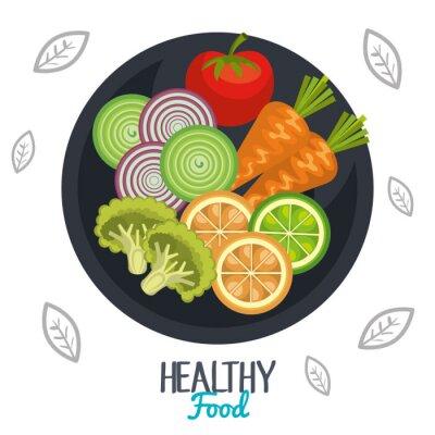 Wall mural healthy food design