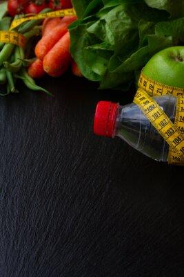 Wall mural Healthy food on table