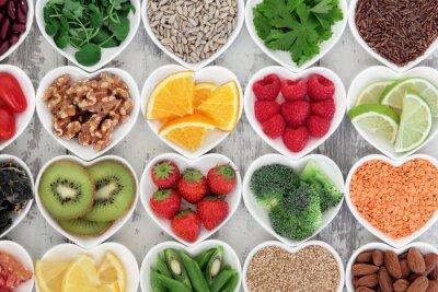 Wall mural Healthy Heart Food