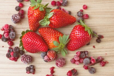Wall mural Healthy Red Fruits