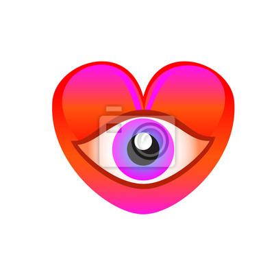 heart eye with