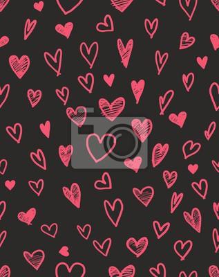 Wall mural Heart pattern