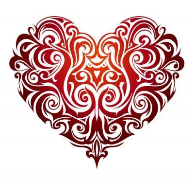 Wall mural Heart shape ornament