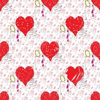 Heart Valentines Day grunge effect