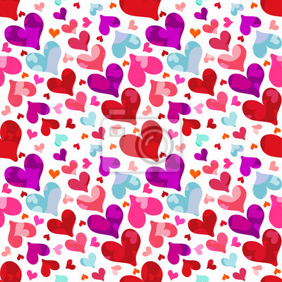 Hearts on Valentine's Day seamless pattern