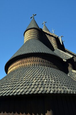 Heddal Stave Church, Norways largest stave church, Notodden municipality. Heddal,Norway