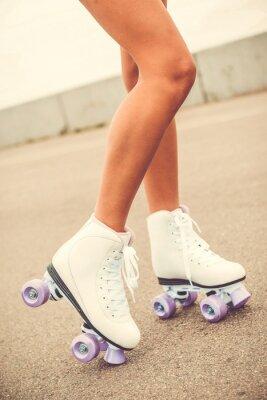Wall mural Her new roller skates.