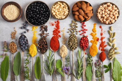 Herbs, spices and superfood.