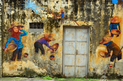 Wall mural Heritage of Ipoh, Malaysia - Ipoh is a city in Malaysia, approximately 200km north of Kuala Lumpur..