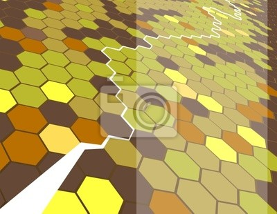 Wall mural hexagon background