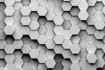 Wall mural hexagon backgrounds 3d illustration
