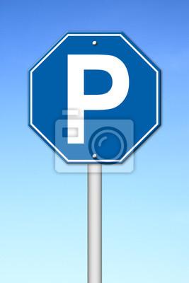hexagon parking sign