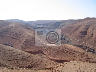 high mountain pass on the moroccan atlas mountains, ouarzazate,
