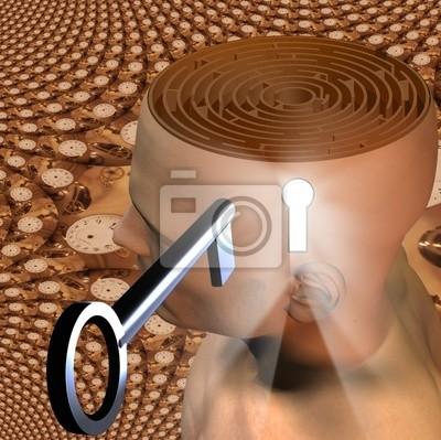 High Resolution 3D Illustration Open Mind