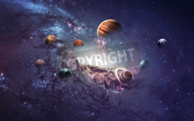 Wall mural High resolution images presents creating planets of the solar system.