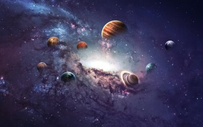Wall mural High resolution images presents creating planets of the solar system. This image elements furnished by NASA