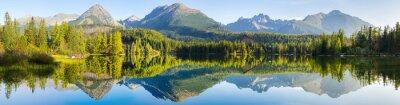 High resolution panorama of the lake in Strbske Pleso,High Tatras,Slovakia