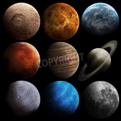 Wall mural Hight quality solar system planets.