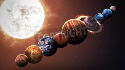 Wall mural Hight quality solar system planets. Elements of this image furnished by NASA
