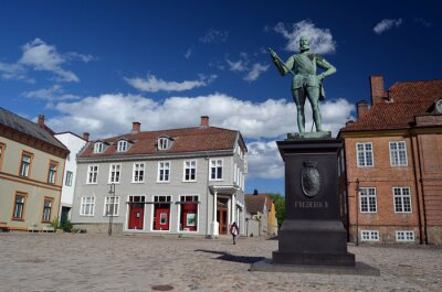 Historical fortress and city Fredrikstad.Named after the Danish King Fredericks II.  Fredrikstad,Norway
