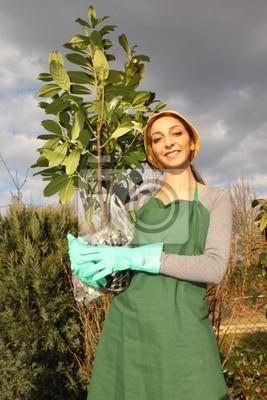 Hobby gardener is looking forward to her garden