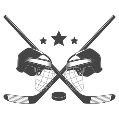 Wall mural Hockey competition chempionship vector logo