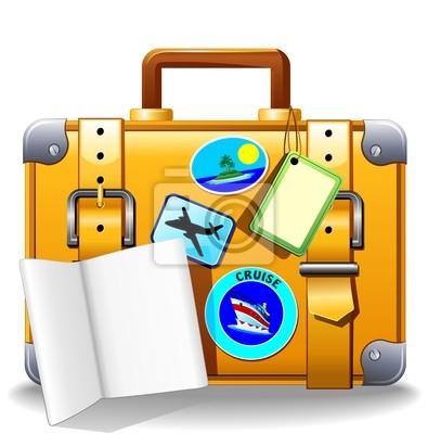 Holidays Suitcase Luggage-Valigia Bagaglio Viaggio-Vector