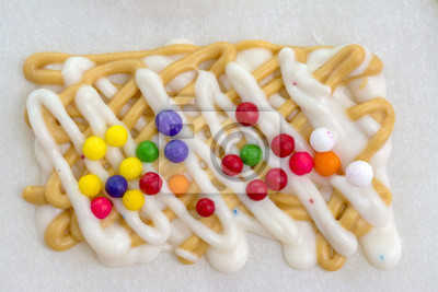 Wall mural Homemade Candy on wax paper
